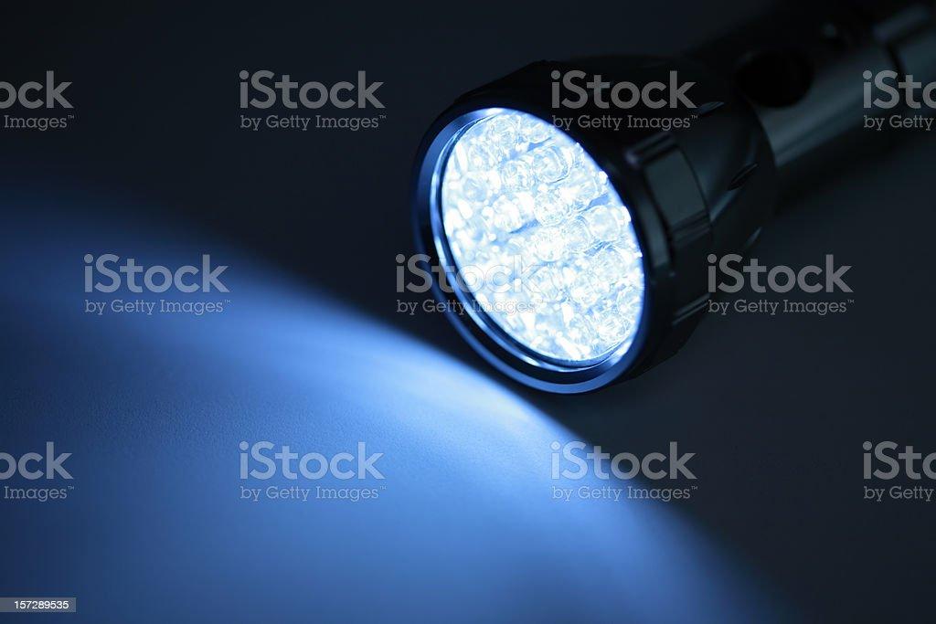 LED Light On Blue royalty-free stock photo