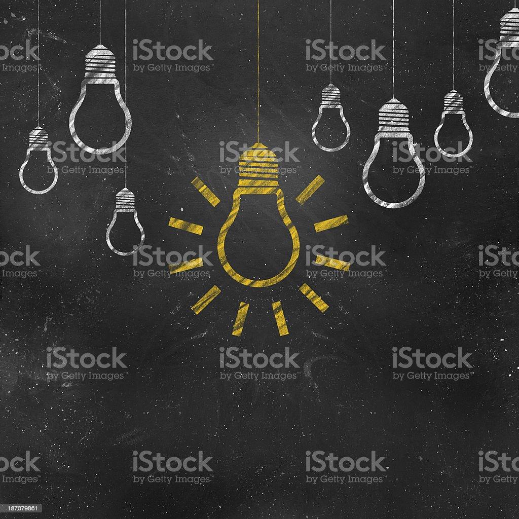 Light On Chalkboard royalty-free stock photo