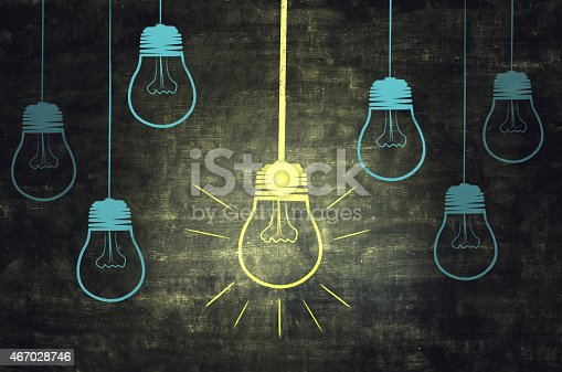 istock Light On Chalkboard 467028746