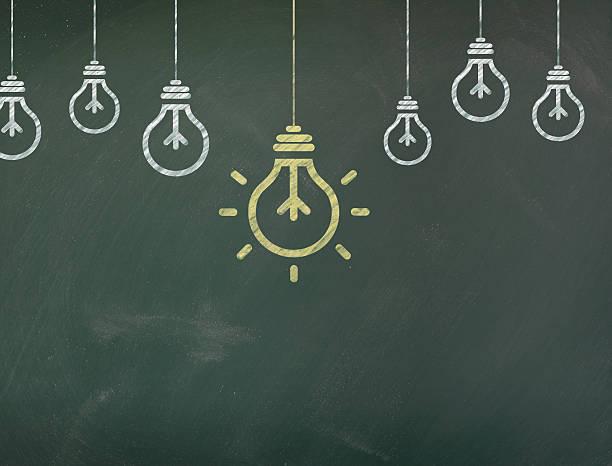 Lumière sur Chalkboard - Photo