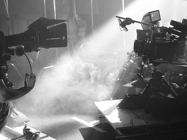 Light on Set stock photo