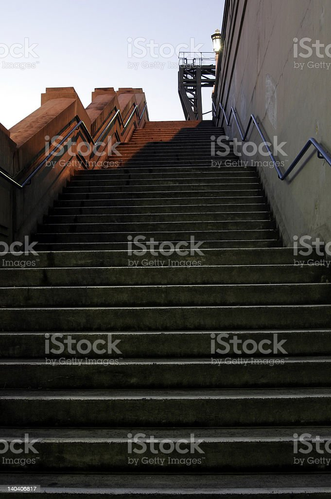 Light On Stairs royalty-free stock photo