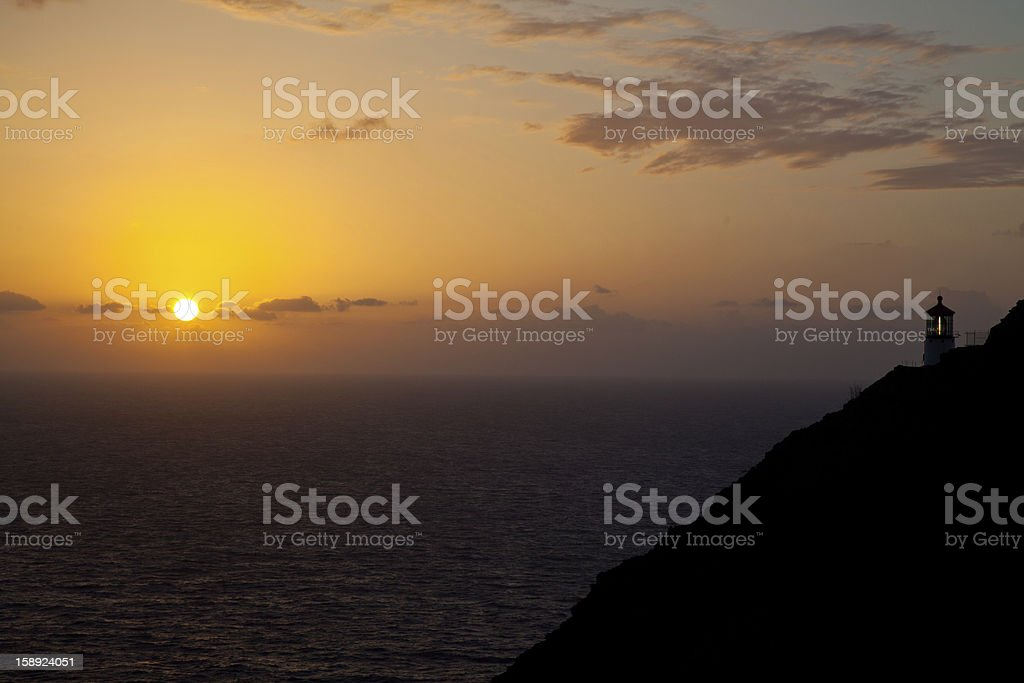 Light on the Hill royalty-free stock photo