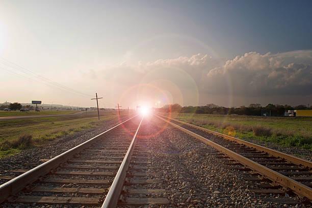 Light on the Tracks stock photo