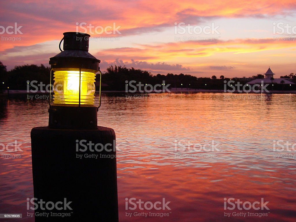 Light on Water at Sunset royalty-free stock photo