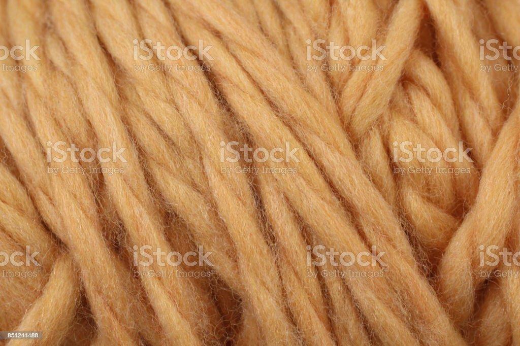 Light Orange Yarn Texture Close Up stock photo