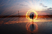 Light Painting, Steel wool photography, Light Spinning