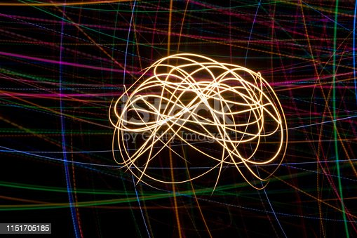 Light painting abstract.