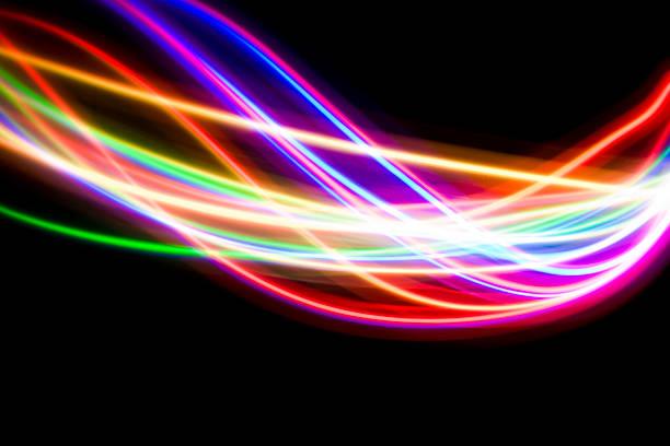 lichtmalerei led-lampen - fluoreszierend stock-fotos und bilder