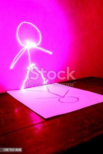 96824512istockphoto Light painting 1067531608