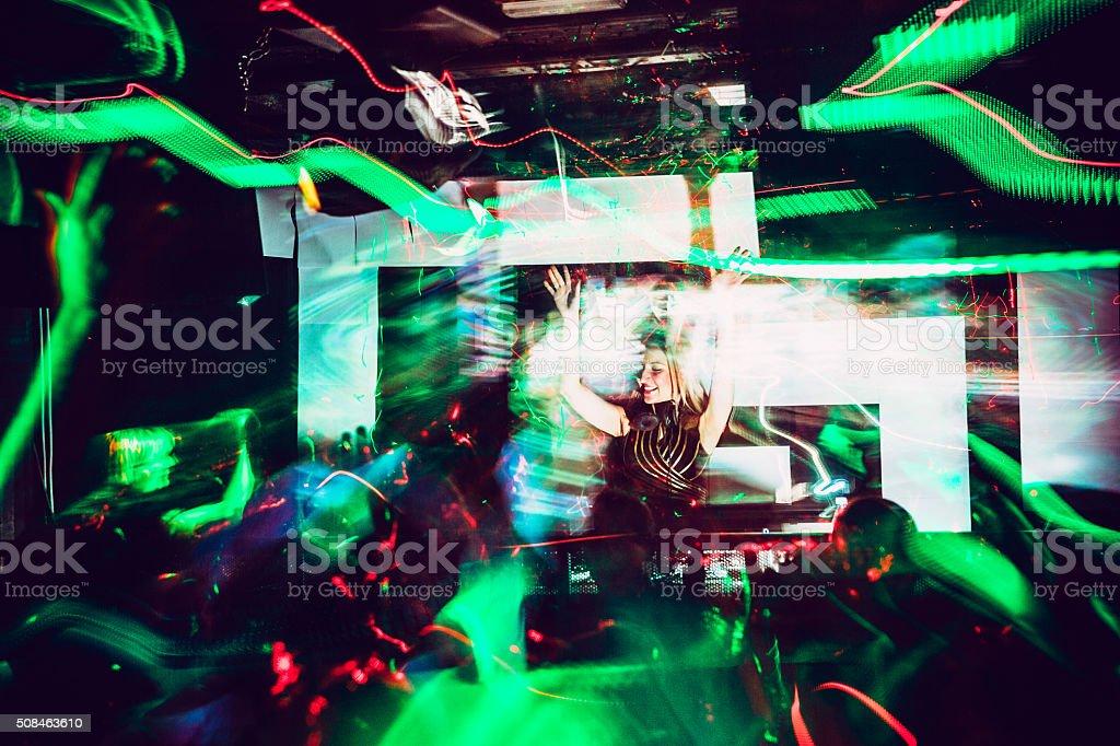 DJ, Light Painting stock photo