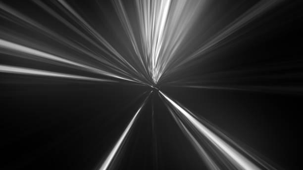 particules légères en effet de zoom. effet de flou de mouvement radial - cercle concentrique photos et images de collection