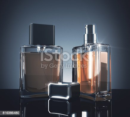 istock Light perfume bottles 816386480