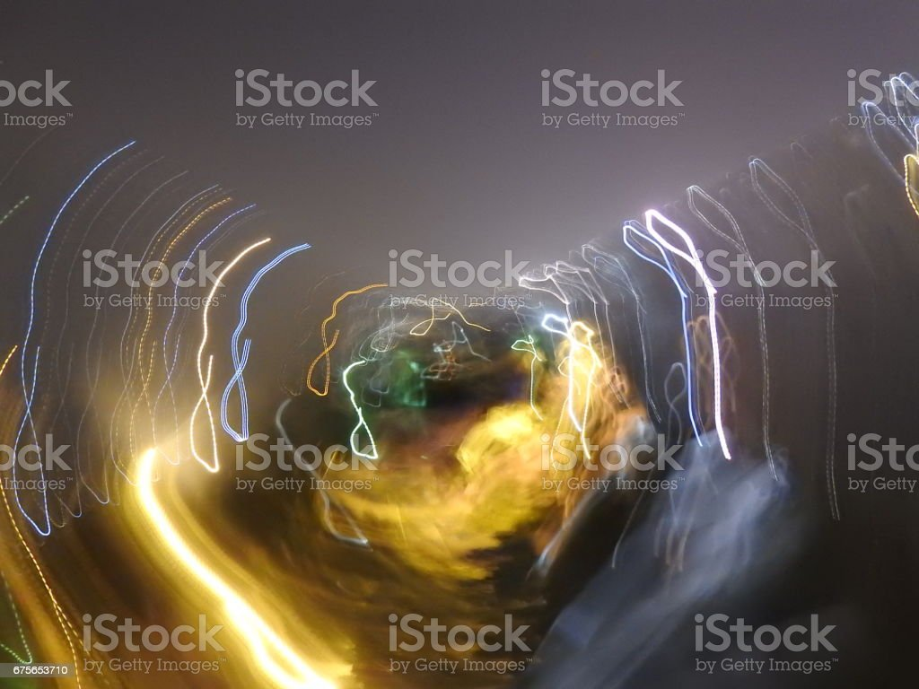 Light Photography circles and yellow smoke royalty-free stock photo
