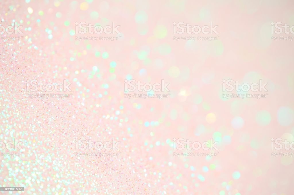 XXXL photo of very light pink iridescent sparkle glitter with...