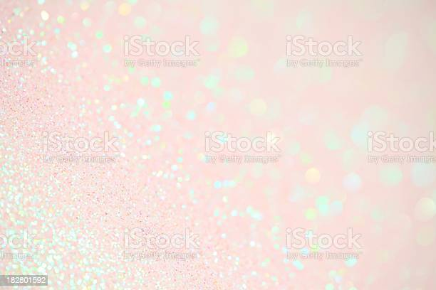 Light Pink Sparkles Stock Photo - Download Image Now
