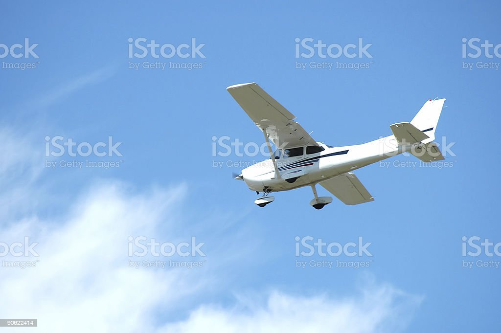 Light plane royalty-free stock photo