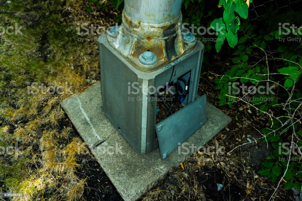 Light Pole Exposed stock photo