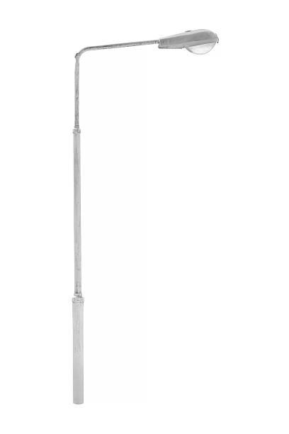 bâton lumineux isolé - éclairage public photos et images de collection