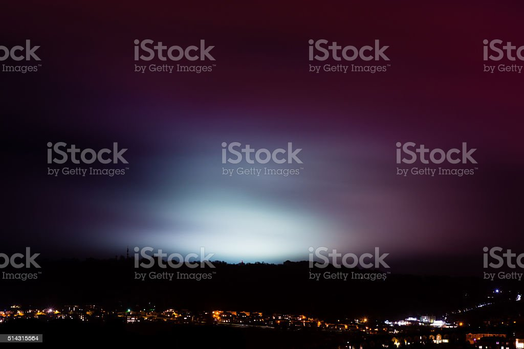 Light Pollution From Sports Fields Stock Photo - Download