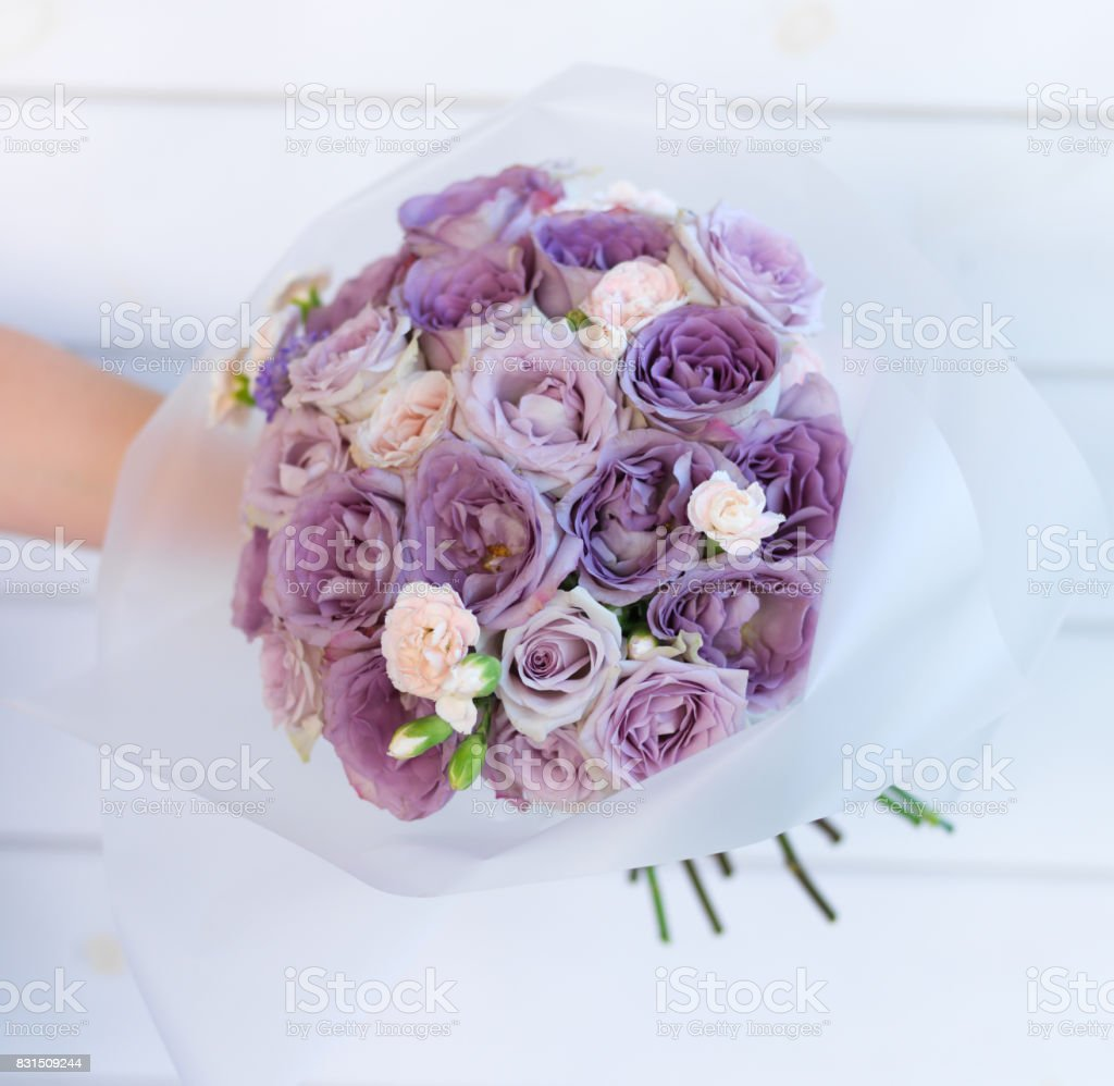 Light Purple Roses In Wedding Bouquet Stock Photo Download Image Now Istock