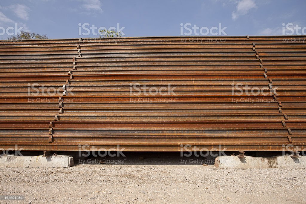 Light Rail Steel. royalty-free stock photo