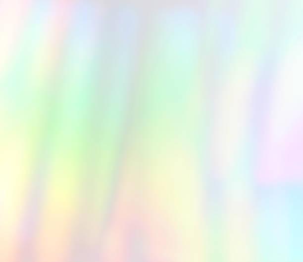 光の屈折ソフトな淡い背景に抽象 Defocus レインボー ストックフォト