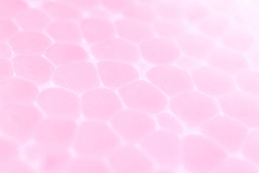 Licht Roze Schuim Kunststof Textuur Abstracte Piepschuim Achtergrond Macro Closeup Stockfoto en meer beelden van Abstract