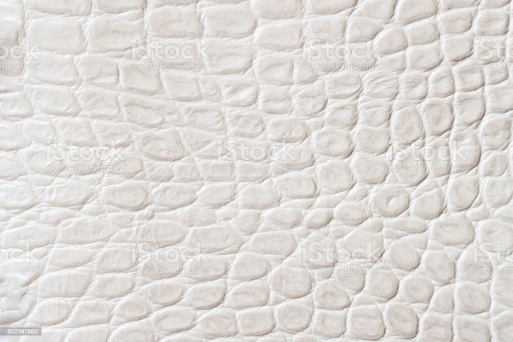 Light scales macro exotic background, embossed under the skin of a reptile, crocodile. Texture genuine leather close-up, fashion trend stock photo