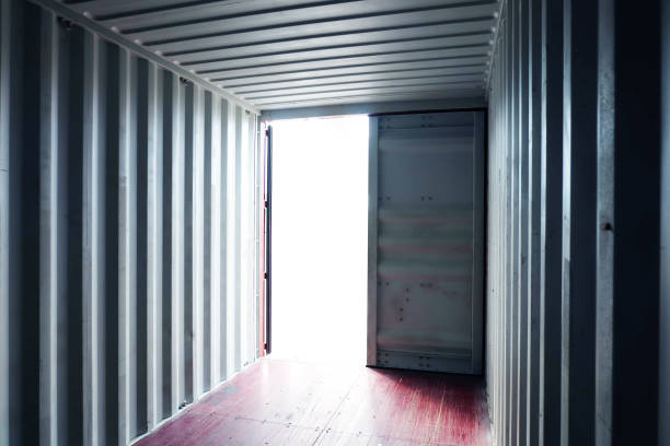 Light shining into Container's interior.