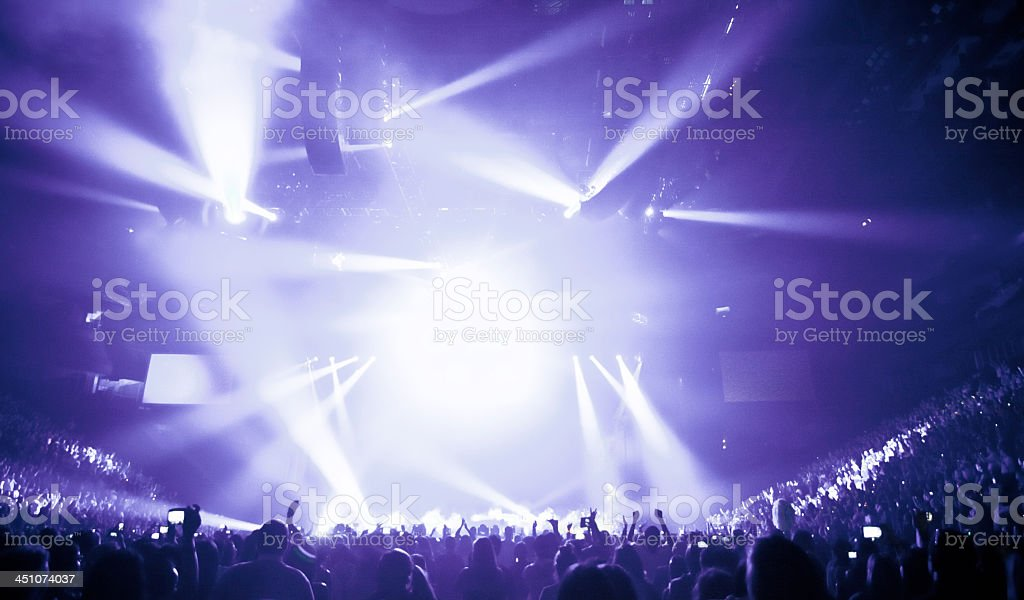 Light show at a big music concert stock photo