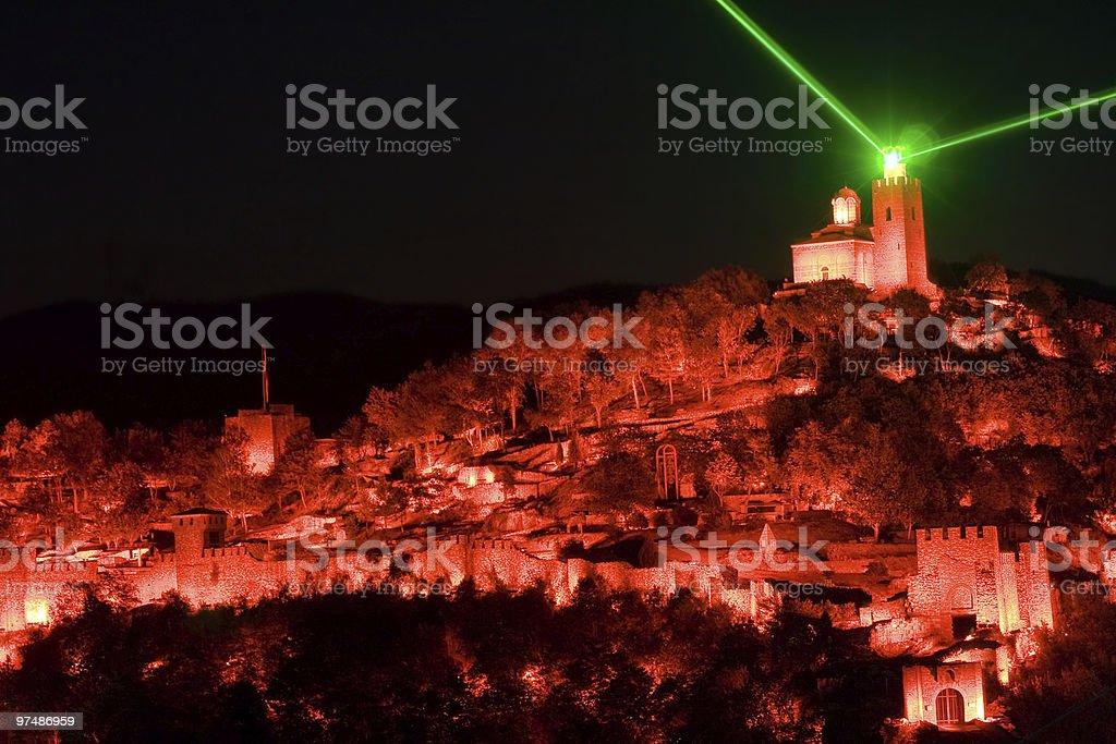 Light show in Veliko Tarnovo, Bulgaria royalty-free stock photo