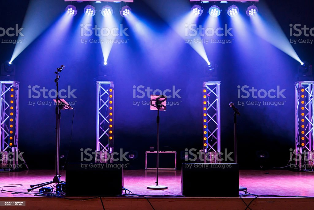 Light Show On Empty Stage Royalty Free Stock Photo
