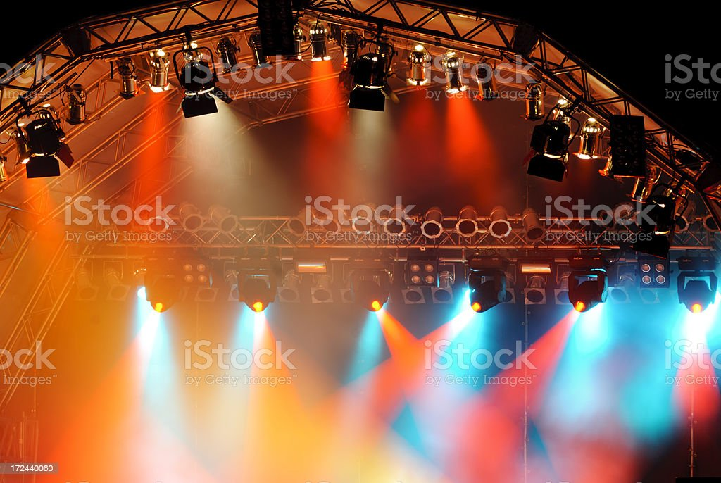 Light show on stage royalty-free stock photo