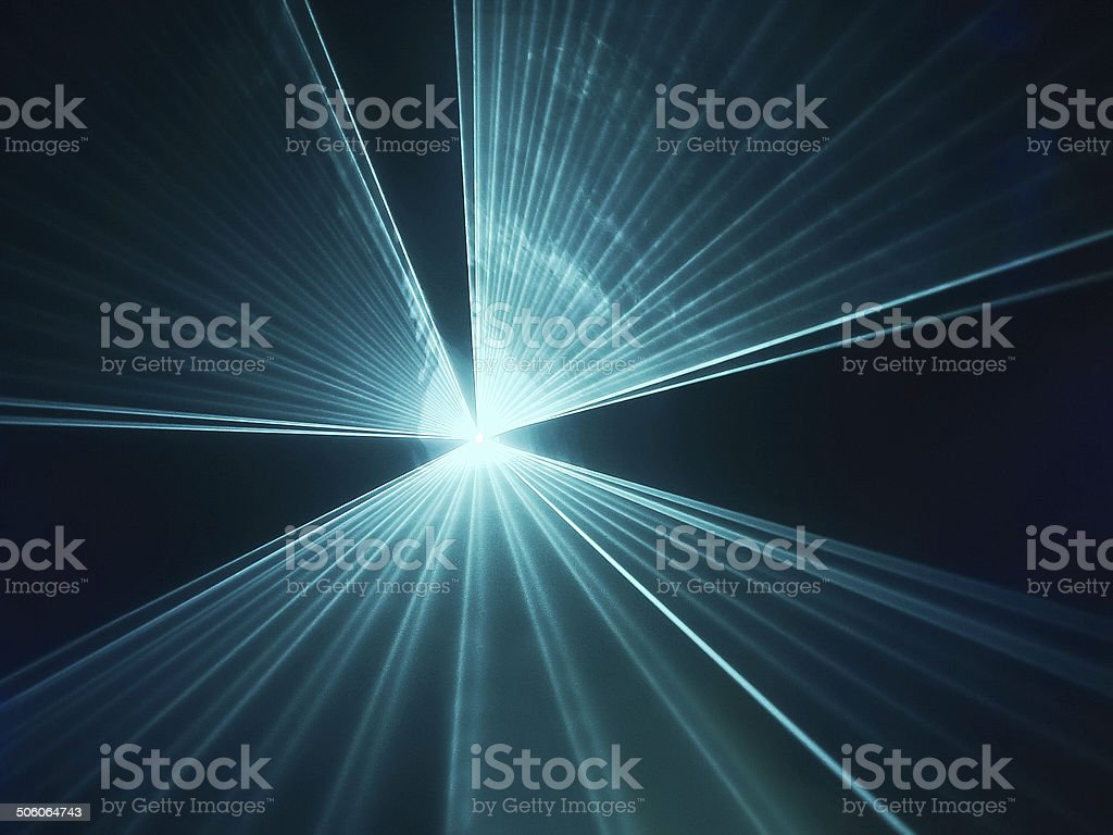 Light show stock photo