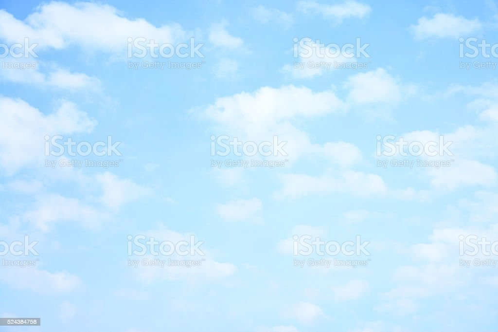 Light sky and clouds stock photo