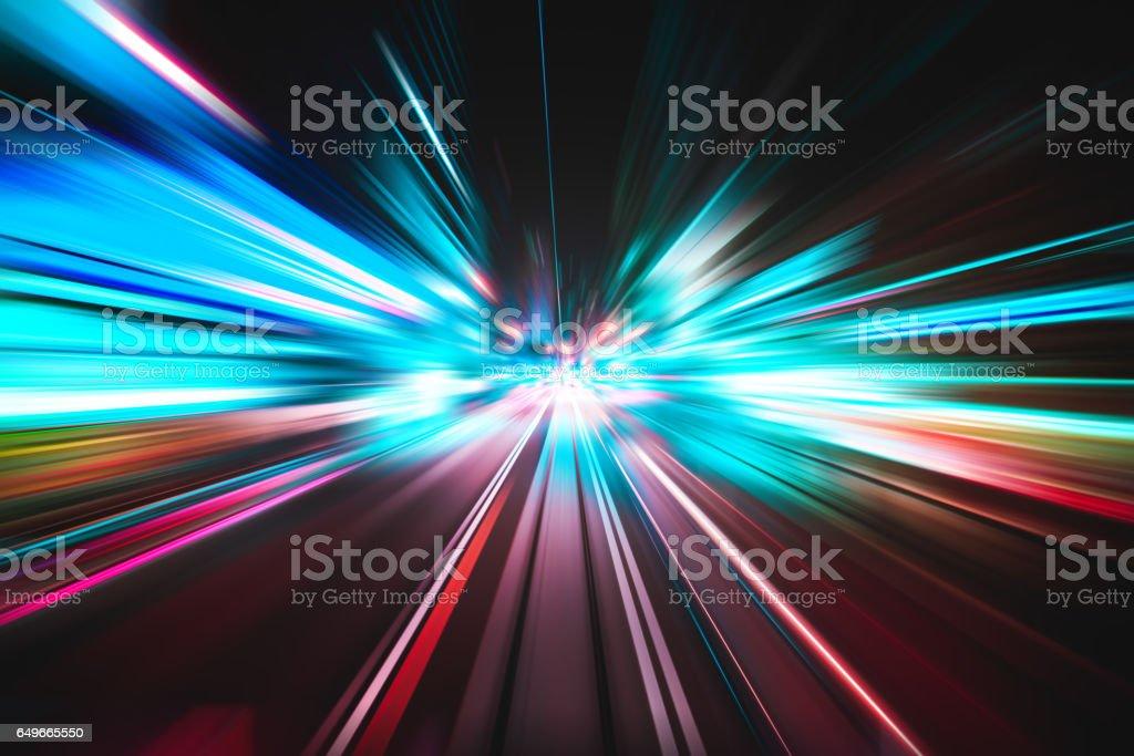 Light speed explosion illustration vector art illustration
