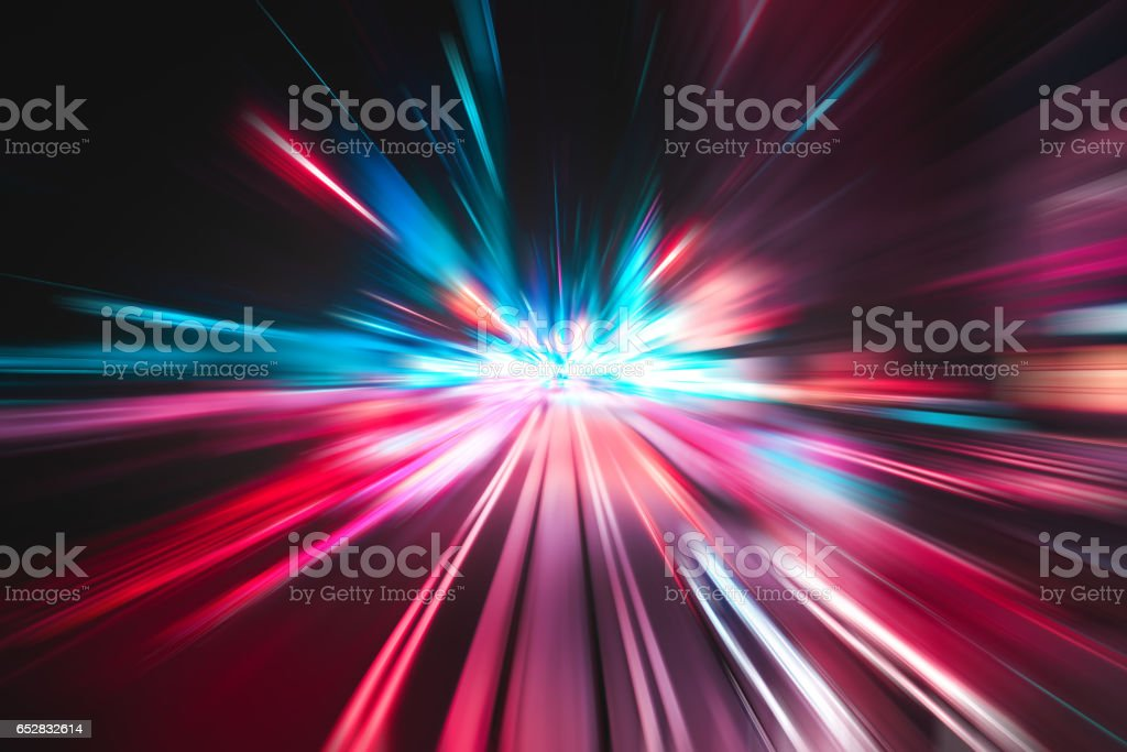Light speed explosion illustration stock photo