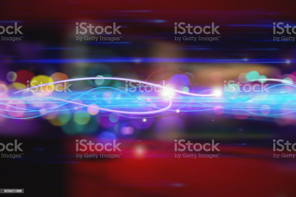 Light Speed, Faster Technology. stock photo