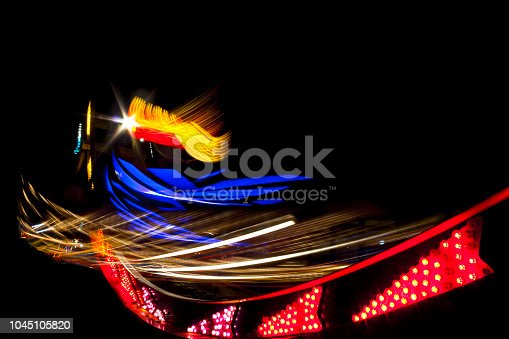 istock Light speed movement of the sky. 1045105820