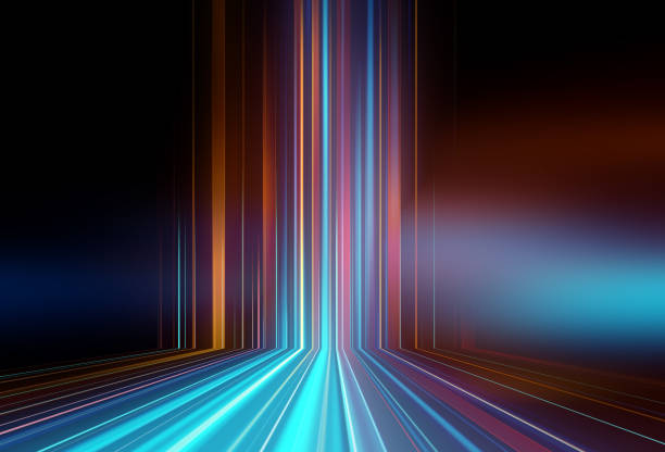 Light speed zoom travel in Deep space  background 3d illustration. stock photo