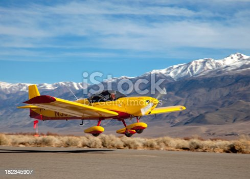 A Zodiac CH 60 Light Sport Aircraft landing at a high mountain airport.Click on an image to go to my Civilian Aircraft Lightbox.