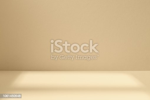istock Light studio space with artistic shadow 1061450548