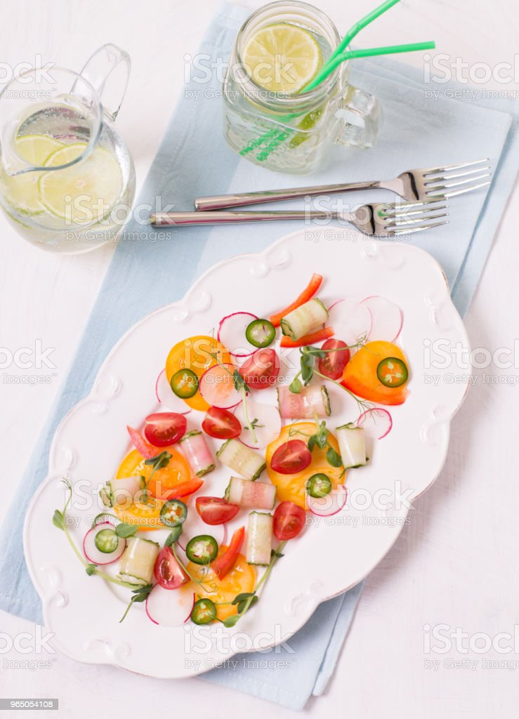 Light summer salad royalty-free stock photo