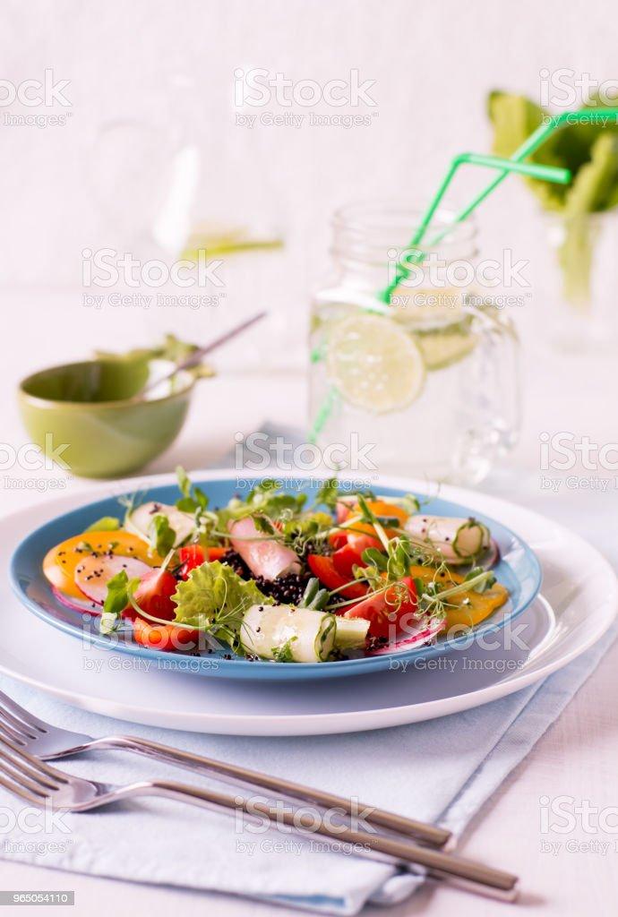 Light summer salad royalty-free stock photo