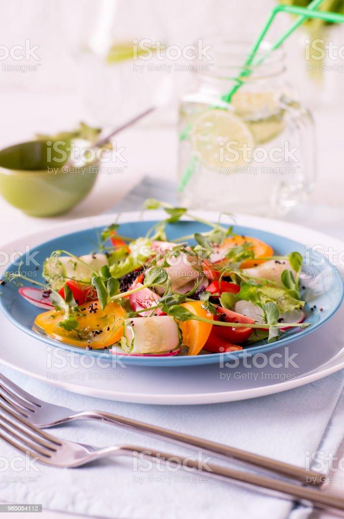 Light summer salad zbiór zdjęć royalty-free