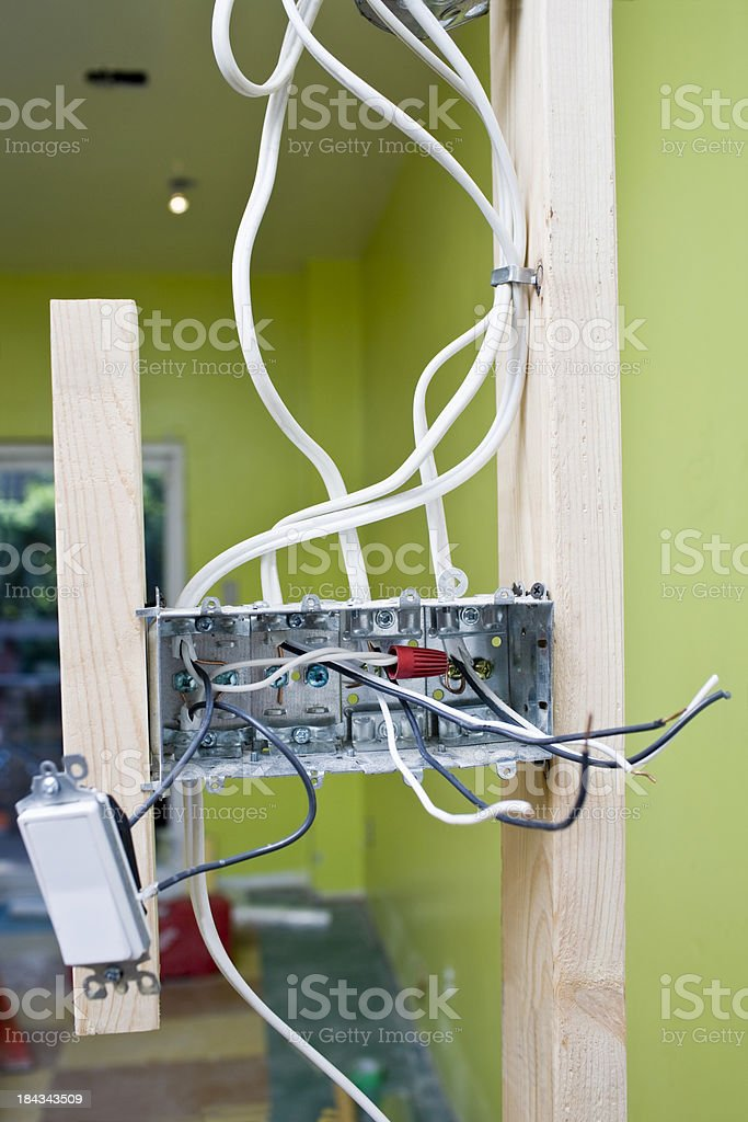 Light Switch Junction Box royalty-free stock photo