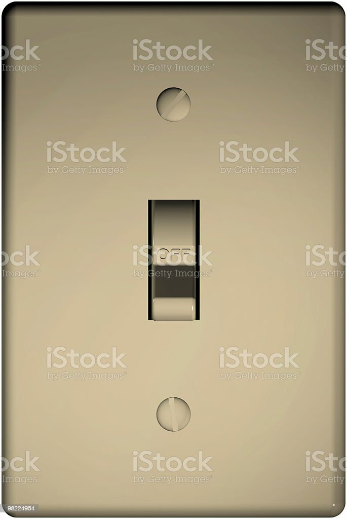 Light Switch, Off (3D, Clipping Path) stock photo