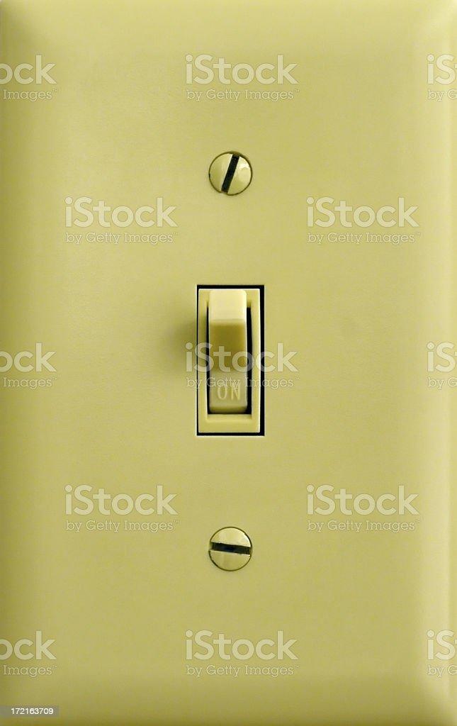 Light Switch On stock photo
