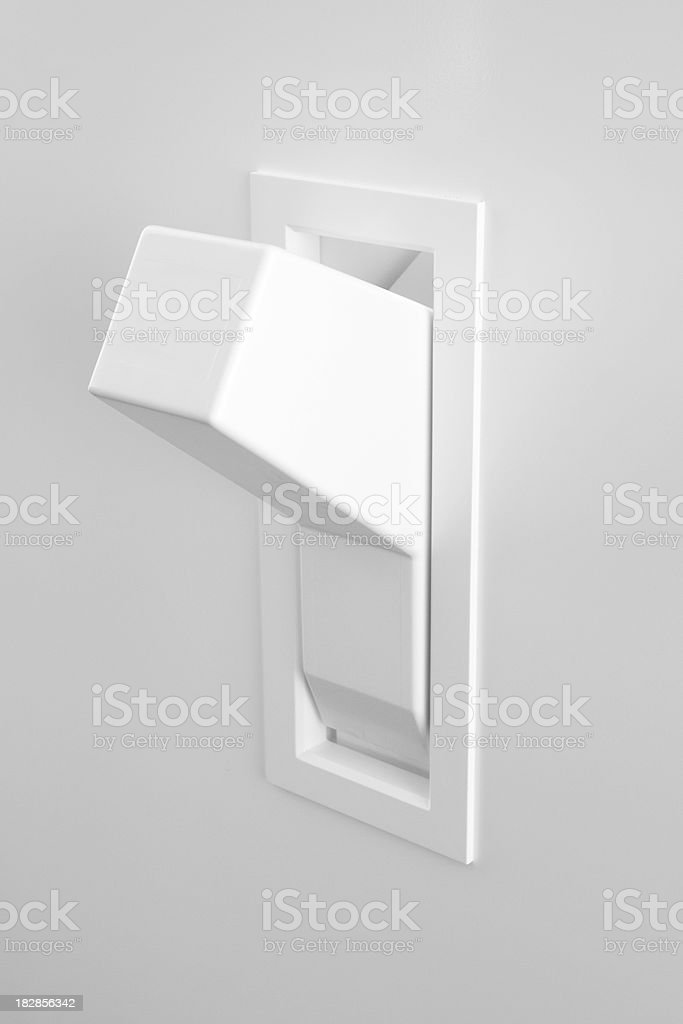Light Switch On Position stock photo